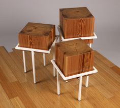 wood cube tables