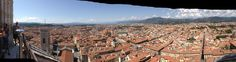 Florencia a tus pies, desde la cúpula que Brunelleschi hizo para el Duomo.