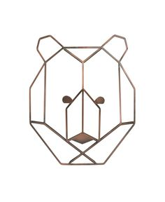 NoJo Metallic Copper Mountain Patchwork Wire Shaped Bear Head Wall Art 6521961 - The Home Depot Rustic Nursery Decor, Nursery Wall Decor, Woodsy Nursery, Nature Themed Nursery, Woodland Decor, Nursery Ideas, Room Ideas, Room Decor, Decor Ideas