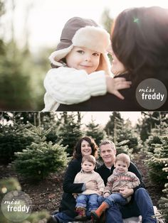Family photos at a Christmas tree farm! Love this session by Seattle photographer, Miss Freddy!