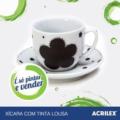 Xícara com Tinta Lousa: http://www.acrilex.com.br/esopintarevender/pap-xicara.php
