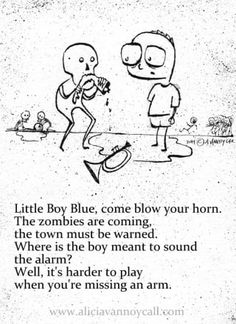 Writer/illustrator Alicia VanNoy Call is creating a series of Apocalyptic Nursery Rhymes that are equal parts cute and disturbing. Creepy Nursery Rhymes, Creepy Poems, Funny Poems, Funny Quotes, Dark Nursery, Pomes, Creepy Stories, Ghost Stories, Horror Stories