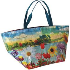 Brightly coloured lightweight tote bag
