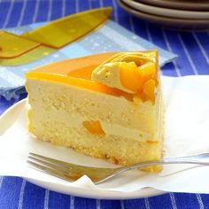 This Mango cake recipe has a cool, not-too-sweet and has a tiny bit tinge of sour taste to it just the way I like it. | www.foxyfolksy.com