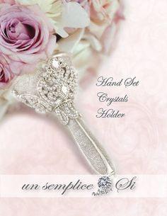 Brooch Bouquet Holder Crystal