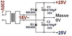 conception d ampli a 3 Electronic Circuit Projects, Electrical Projects, Electronic Engineering, Electrical Engineering, Diy Electronics, Electronics Projects, Wireless Battery Charger, Home Theater Amplifier, Electrical Circuit Diagram