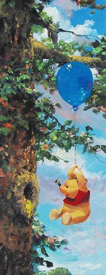 Disney Fine Art - Up In The Air. Winnie The Pooh. Biggs Ltd. Gallery. Heirloom quality bridal, art, baby gifts and home decor. 1-800-362-0677. $550.