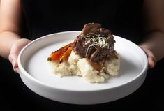 Wow your guests with Juicy Melt-in-Your-Mouth Instant Pot Short Ribs (Pressure Cooker): Red Wine Braised Beef Short Ribs with buttery mashed potatoes.