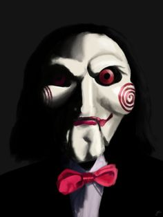 31 days of Horror Paintings Day 27 part Jigsaw's Puppet Horror Movie Characters, Best Horror Movies, Scary Movies, Fictional Characters, Clown Horror, Arte Horror, Horror Art, Jigsaw Doll, Jigsaw Saw