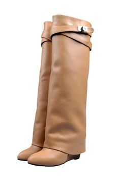 Leather #Wedge Knee #Boots