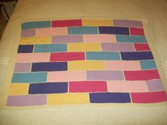 Pastel Patchwork Baby Blanket Hand Knit 100 by slimsblankets, $40.00