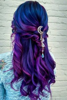 Blue Ombre Hair Styles for Daring Women ★ See more: http://lovehairstyles.com/stunning-blue-ombre-hair/