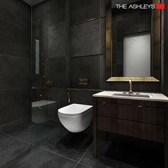 ‪#‎TheAshley‬'s modern bathroom designs oozes a simplistic and clean feeling and sets the room to a spa-like ambience