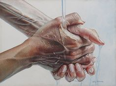 Coming Clean by Holly Bedrosian Colored pencil and watersoluble pastel ~