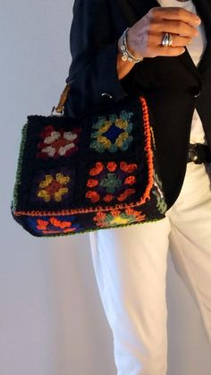 Knitted Bags, Street Style Women, Purses And Bags, Fashion Accessories, Shoulder Bag, Knitting, My Style, Crochet, Bags