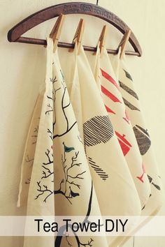 How to: hand-print Tea Towels