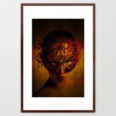 Bal Masque Framed Art Print by Galen Valle | Society6