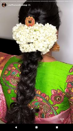 Indian Hairstyles For Saree, South Indian Wedding Hairstyles, Dress Hairstyles, Party Hairstyles, Hairdos, Bride Hairstyles, Bride Bun, Traditional Hairstyle, Hair Puff