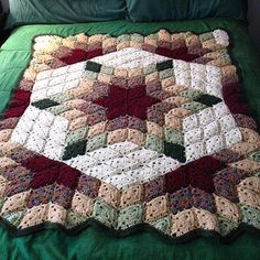 Free Pattern; Red Heart; crochet; Prairie Star Blanket