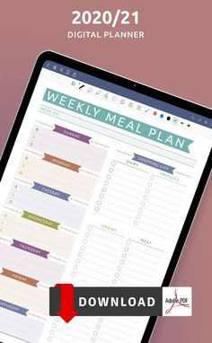 Browse the collection of Meal Planners Notebook Templates available in PDF format. Ensure maximum productivity and time management by having a planner. A more productive you start here! Weekly Meal Plan Template, Meal Planner Template, Meal Planner Printable, Free Printable, Diet Meal Planner, Food Planner, Diary Template, Pen And Paper, Meals For The Week