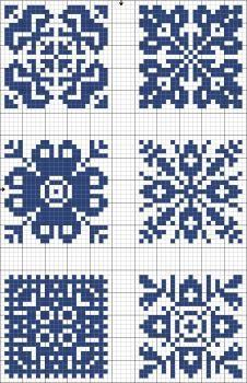 Tantes Zolder's charts: Blue tiles | gancedo.eu
