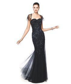 Vestido de festa elegante cor preto Modelo Natasha - Pronovias 2015