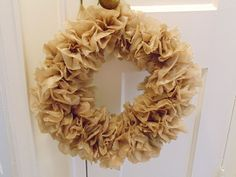 Brown  Plastic Bag Wreath