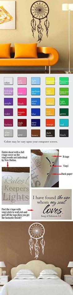 Dream Wall Decals Catcher Vinyl Decal Feather Sticker Boho - vinylboden f r k che