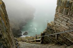 Tintagel Castle - Atlantic coast of Cornwall, England