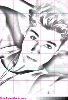 Drawing Justin Bieber Using a Grid