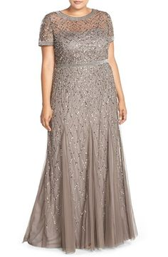 Plus Size Women s Adrianna Papell Beaded Gown Size Plus Size Party Dresses, Plus Size Gowns, Evening Dresses Plus Size, Plus Size Outfits, Mother Of Groom Dresses, Mothers Dresses, Dressy Dresses, Short Dresses, Xl Mode