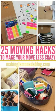 pinning these genius moving hacks and tips to make our next move easier!