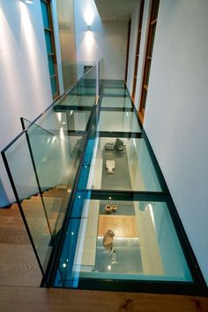 Thought that would be very cool to have the this glass as the portion of the walkway connecting the area above guest bedroom / before entrance to master bedroom. Prob just 3 feet but thought add an interesting design element over the hallway