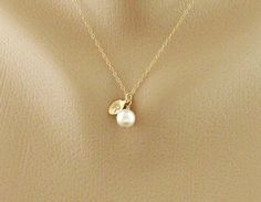 Initial Pendant Pearl necklace Personalized Monogram by hotmixcold, $24.00
