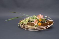 Ikebana ikenobo japan flower arrangement. Indonesia