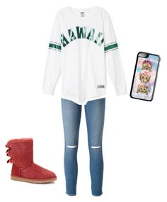"""""""CUTE"""" by brisabella ❤ liked on Polyvore featuring beauty, Frame Denim, UGG Australia and Samsung"""