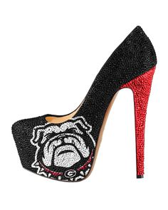 2013-14 Limited Edition Georgia Bulldogs High Heel Crystal Pump shoes – HERSTAR