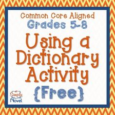 Using a Dictionary {FREE}