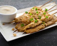 Thai Sesame Chicken Satay w/ Thai Coconut dipping sauce- Thai Coconut, Coconut Chicken, Sugar Free Eating, Chicken Satay, Sesame Chicken, Paleo Whole 30, Foods To Eat, Your Recipe, The Dish