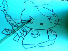 Hello kitty una honda mas ruda :p