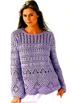 Suéter de crochê.