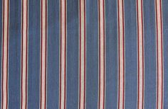 Blue and Red Ticking Fabric