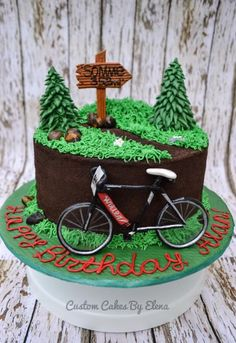 And another Bike themed cake that I've done last year, I hope you will like it. Chocolate ganache , Oreo crumbs and piped buttercream
