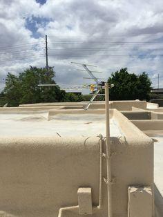 Great Outdoor HDTV Antenna Installation On A Flat Roof In N. Scottsdale, AZ. Ran