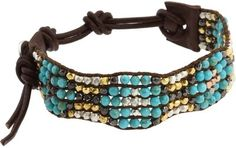 Chan Luu - Single Mix Beaded Bracelet (Turquoise) - Jewelry - Polyvore