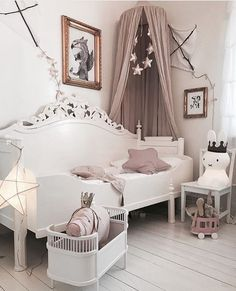 A pretty little girl's room | Rosaline doll bed available online at www.istome.co.uk