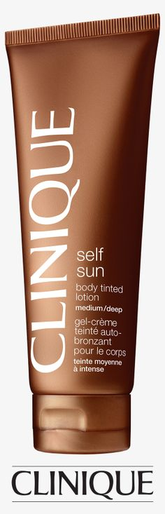 Get a safe summer glow with #Clinique Self Sun Body Tinted Lotion.