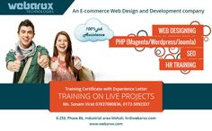 #WebaroxTechnologies offers the best #industrialtraininginChandigarh for B.tech, Diploma, BCA and MCA students. Our expert instructors train students in web development, web design, mobile applications, Android applications, optimization of search engines (SEO), social media marketing (SMM) and digital marketing.