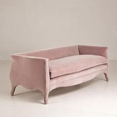 Beautiful dusky pink colour - Lowback French Style Sofa by Talisman Bespoke