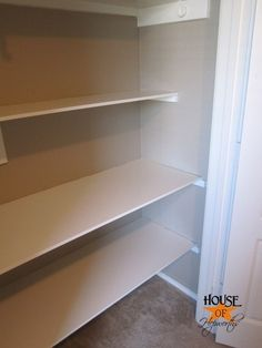 how to install shelving in a closet from House of Hepworths